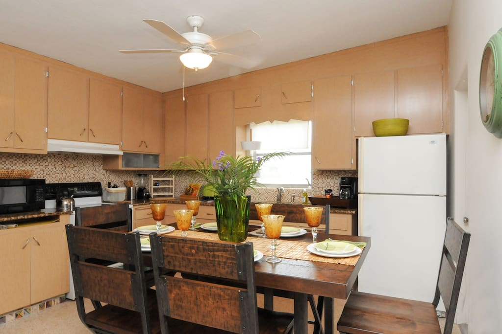 Eat in kitchen is fully equipped.