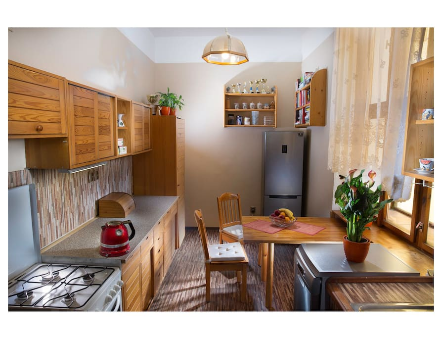 Fully equipped kitchen, feeling homy already?