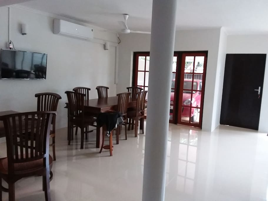Spacious dining area for guests at Ground Floor Level