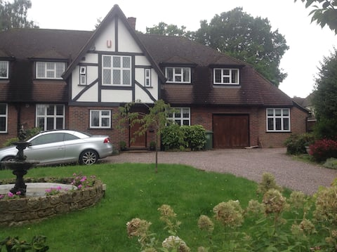 Annexe in lovely house , good links to London.