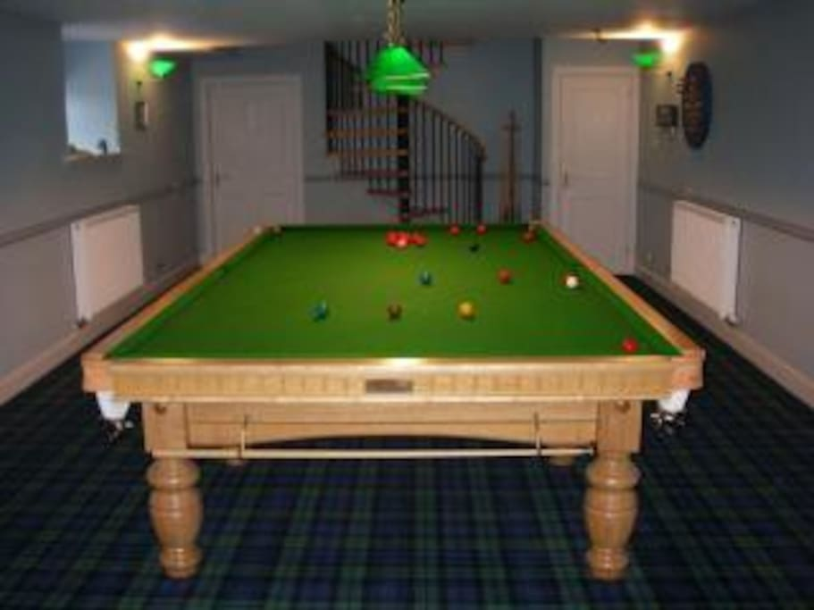Games room with full size snooker table