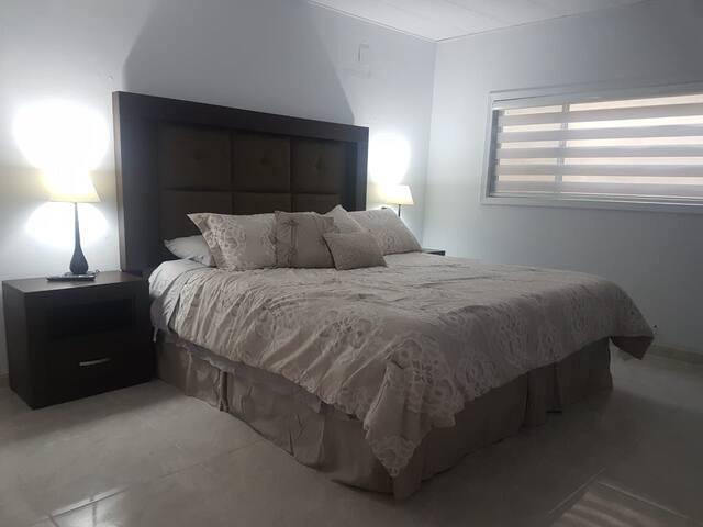 King bed / master bedroom