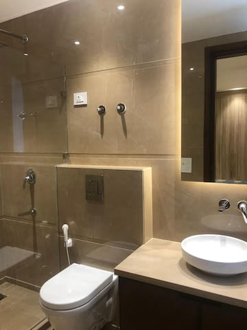 Private Attached Italian Marble Washroom/Bathroom