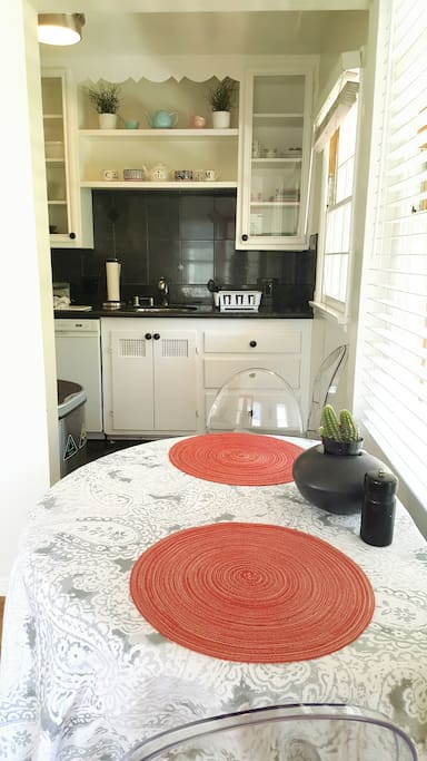 Dining table into Kitchen
