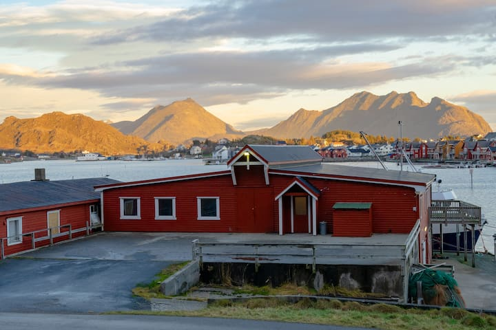 The entrence of Fish Factory. The bedrooms are located on the otherside with a stunning seaview.