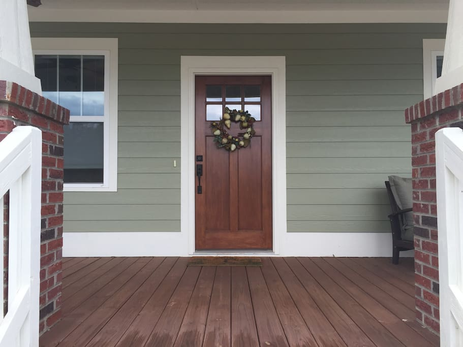 Front Entry & Deep Porch