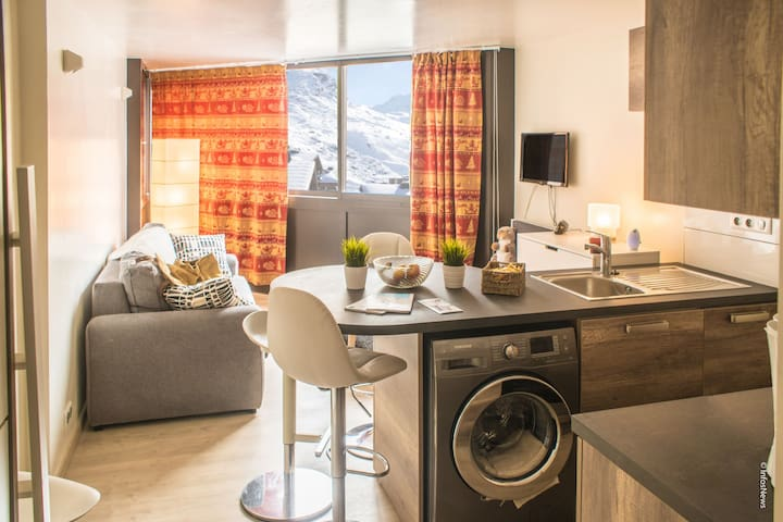 VAL THORENS LOVELY STUDIO 3 PEOPLE CLOSE TO ALL FACILITIES