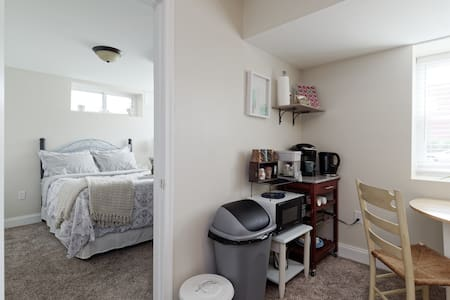 Cozy Private Suite with City Charm & Parking!