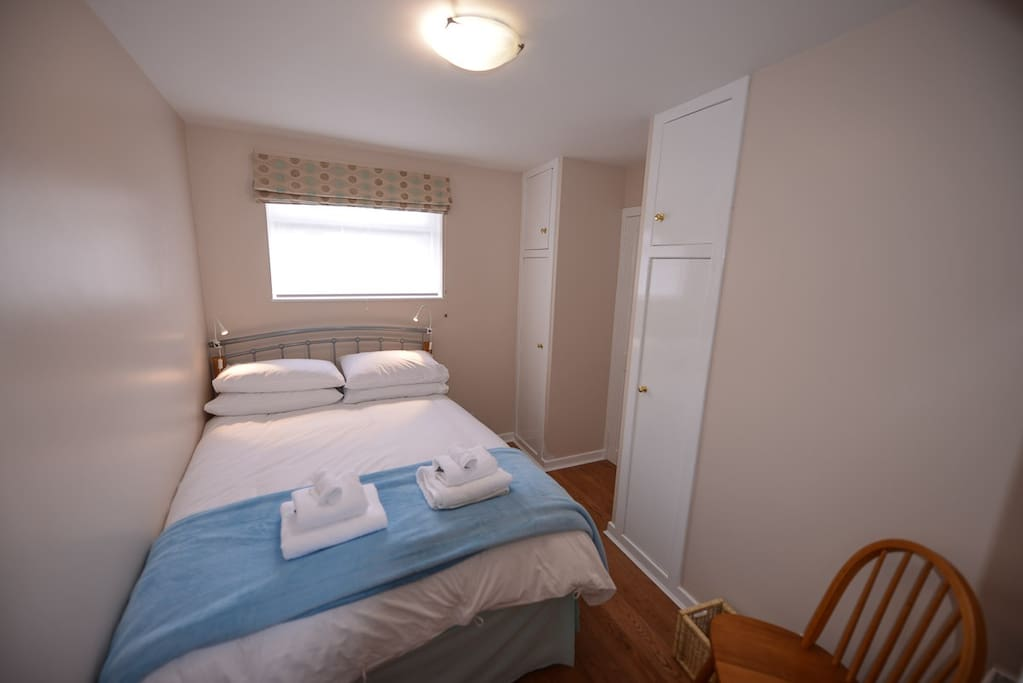 Double bed with ensuite shower room