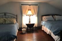 Bedroom 1-- 2 Queen sized beds
