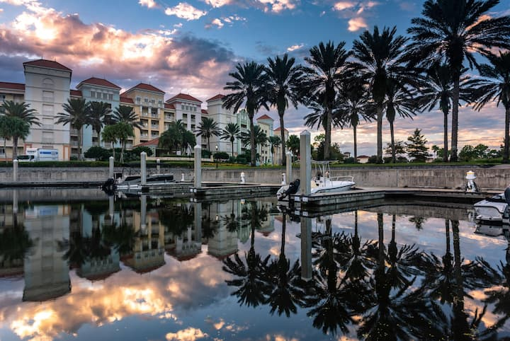 Hammock Beach Golf Resort and Spa - 2 BR 575 Intracoastal View Condo in the Yacht Harbor