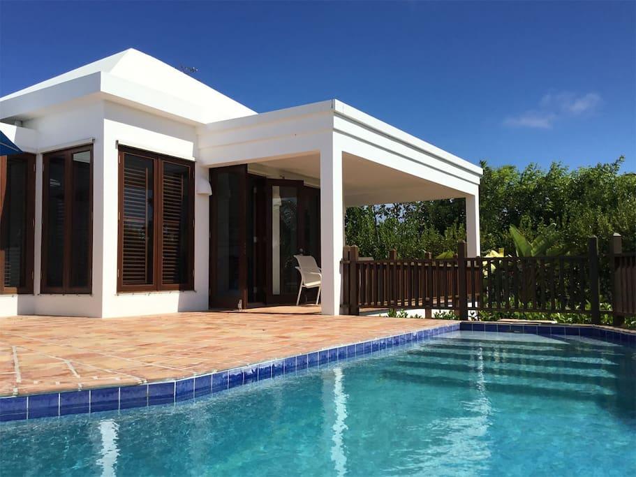 Poolside at Beach Palm Villa