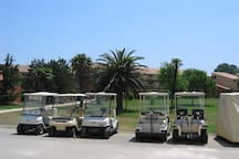Take part in the nearby golfing.