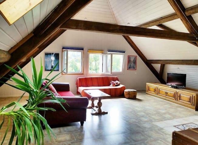 loft spacieux 150 m2 + mezzanine