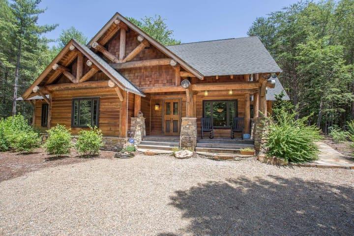 Rustic Mountain Cabin Lake James - Morganton - Rumah