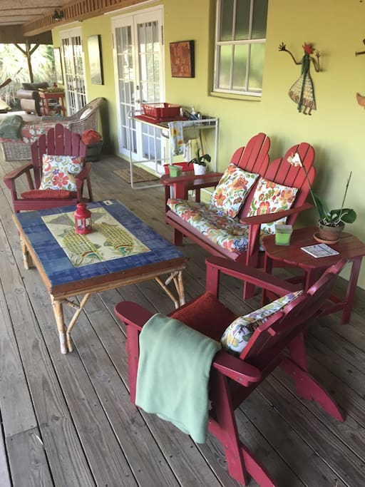 Veranda , which is larger in person and includes a dining table.