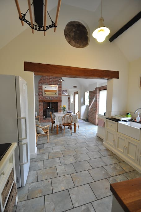 View from kitchen towards dining area