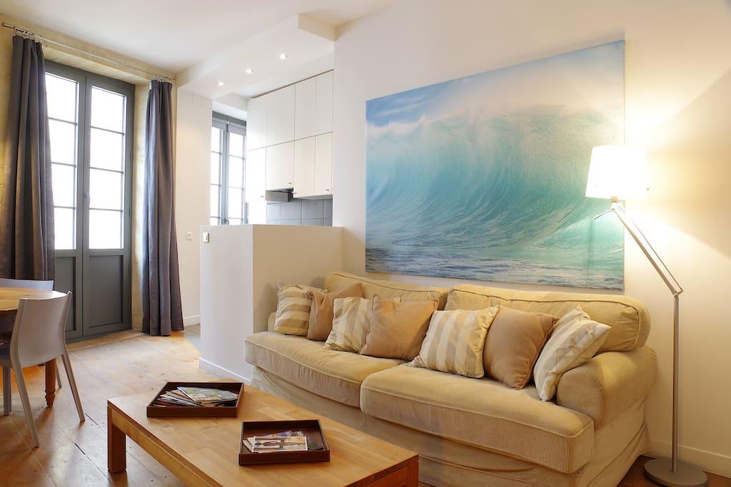 Appartement 64m2 terrasse bordeaux chartrons for Appartement bordeaux terrasse location