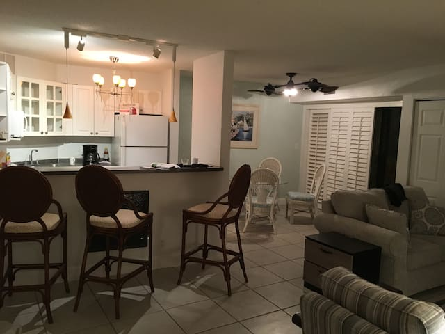 Bright, fully furnished condo in South St. Pete.