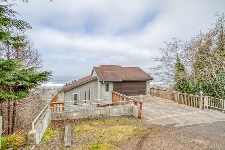 Spectacular Ocean Views of Rockaway Beach from this Multi-Level Spacious 3 Bedroom Home, Dogs Welcome!