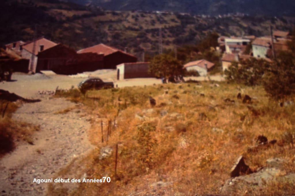 Plate-forme du village Agouni N'Teslent au cours Années 70