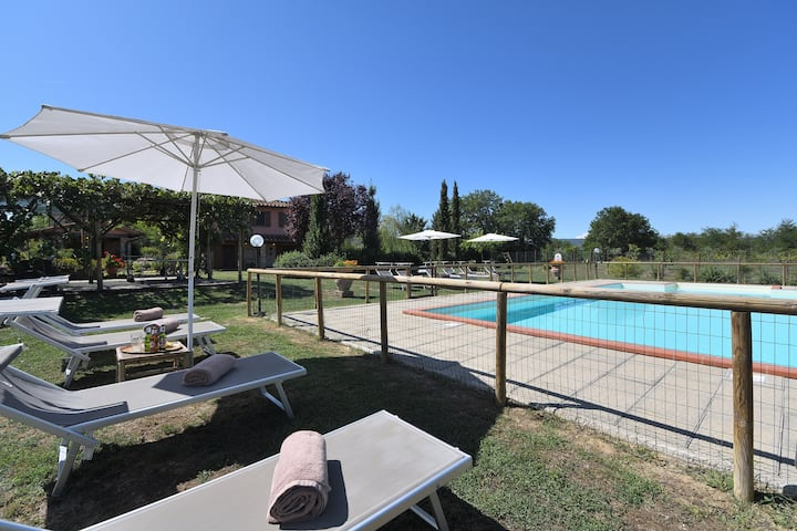 Beautiful country house with private garden, pool