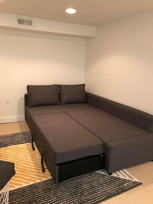 Couch sleeps 2