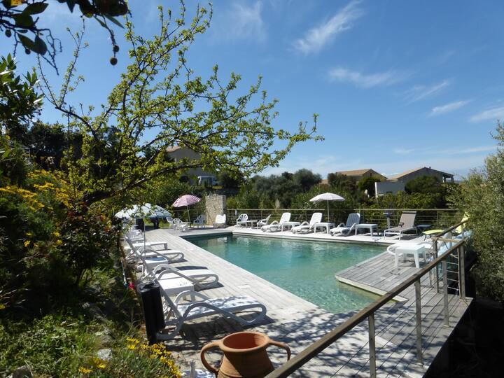 villas bord de mer avec sa piscine chauffée