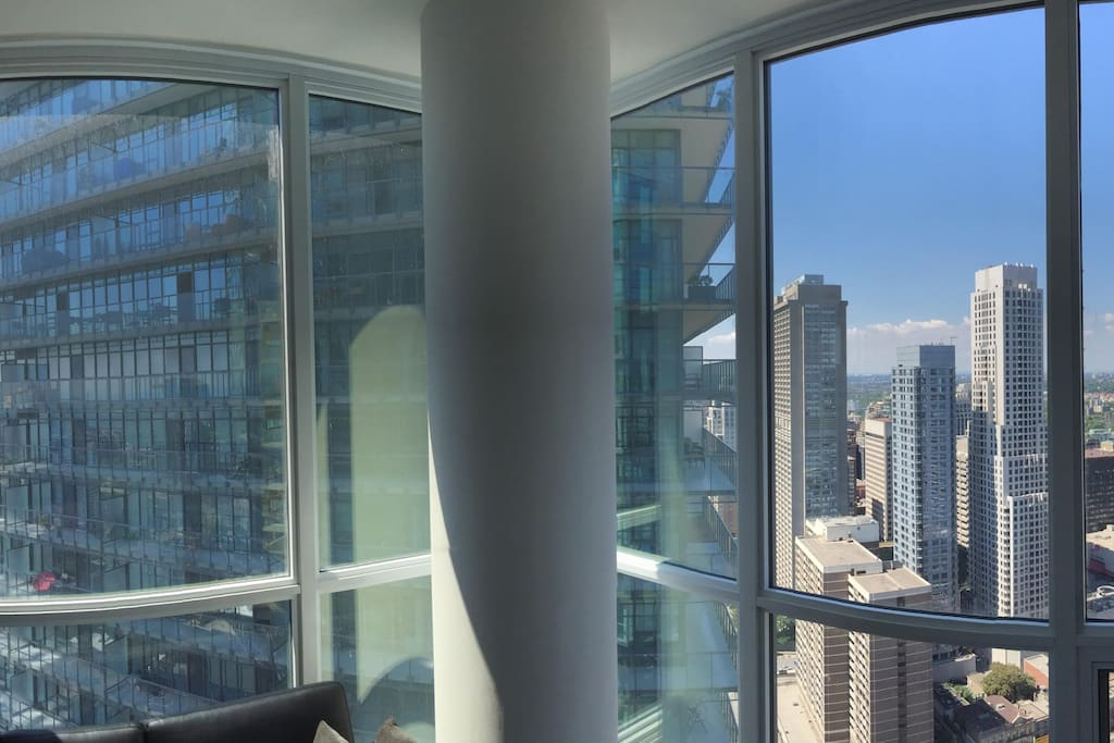 Panoramic view from the living room