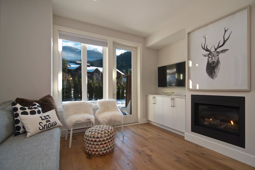 Main Living Area with view of Whistler Mountain
