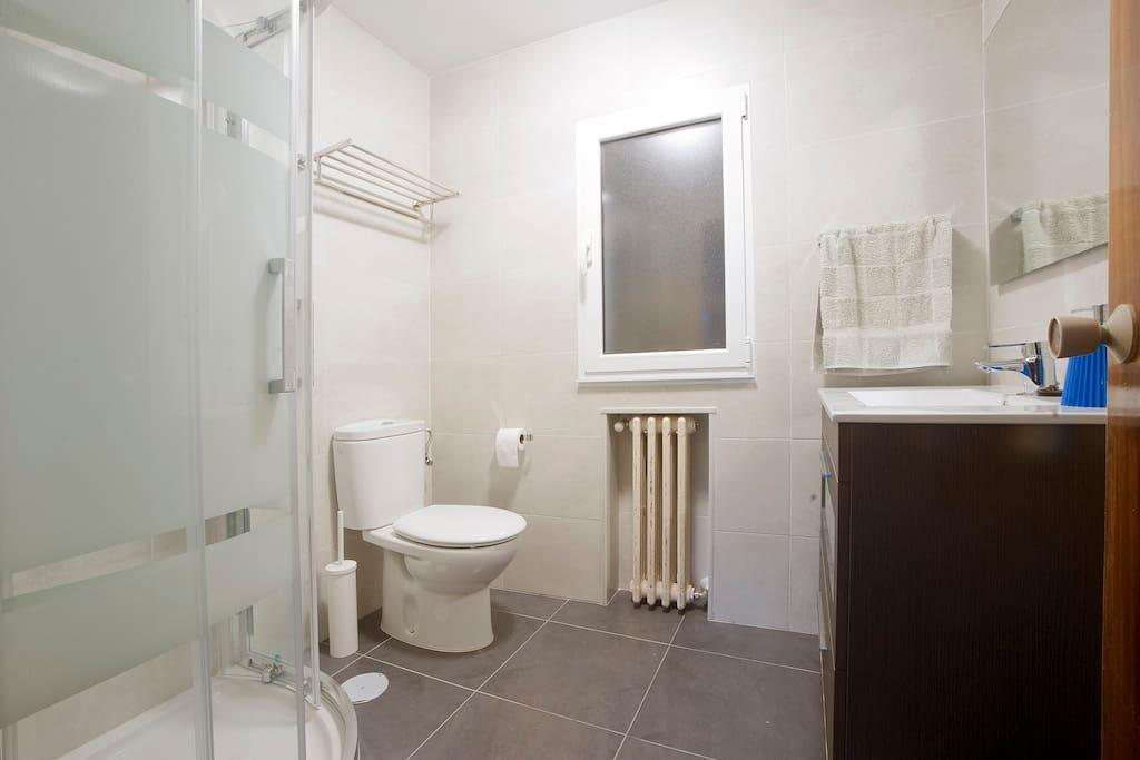 Baño de abajo, completo, con ducha