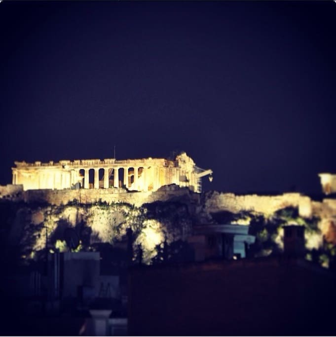 Acropolis at the night