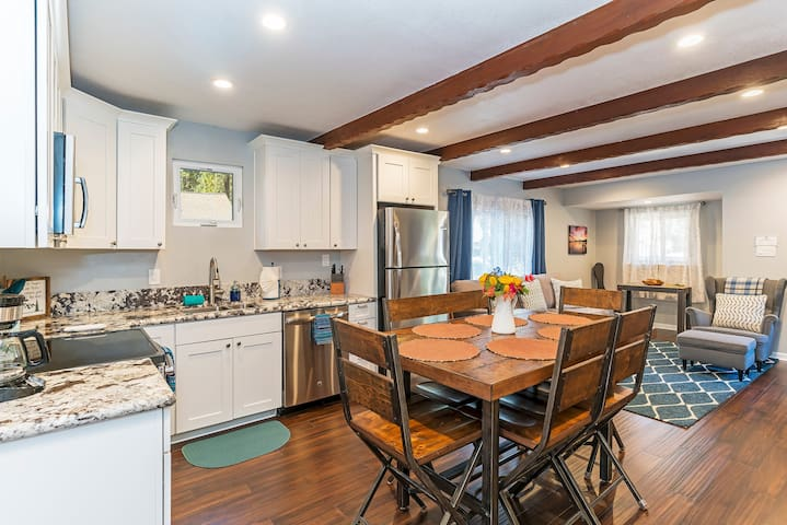 An open concept design is great for gathering your small family.