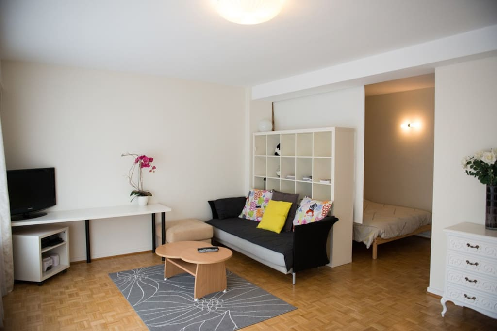 cute open flat 60m m rode m tro and eu schuman appartements louer schaerbeek bruxelles. Black Bedroom Furniture Sets. Home Design Ideas
