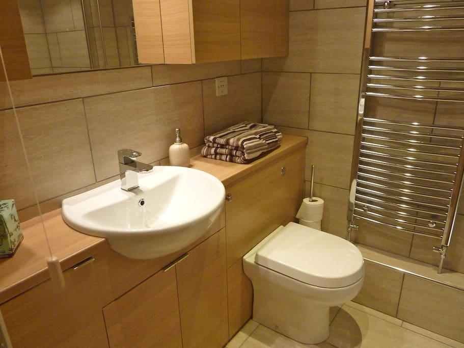 Luxurious modern bathroom.