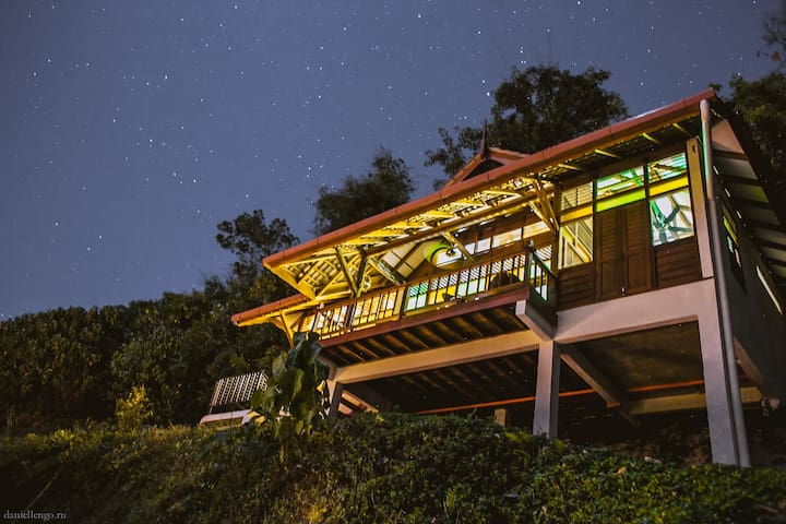Hilltop Villa and surrounding nature. Perfect for stargazing in the evening.