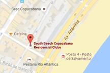 Localização do apart hotel no bairro