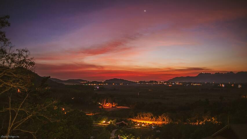 Amazing sunset view from the veranda