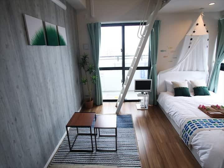 Naha City Room! Near Kokusai St/DFS/Wifi/MAX5