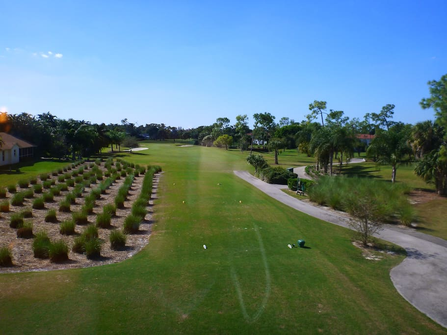 Overlooking the fairway. The beach is just 1.5 miles straight ahead.