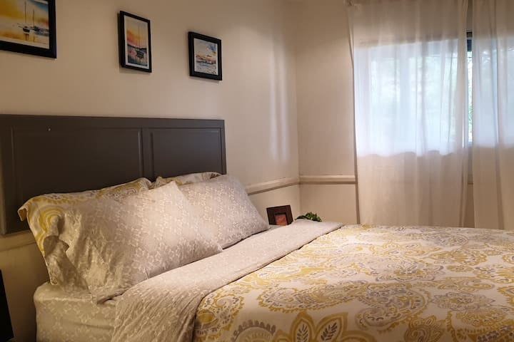 Your bedroom is very spacious -- this picture shows less than half of it.