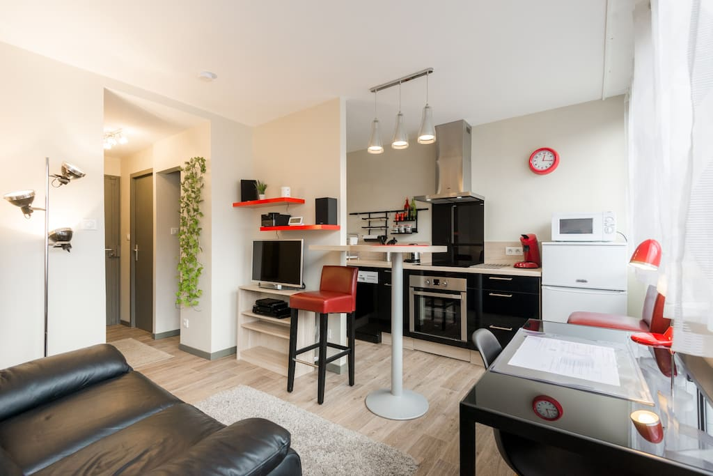 meubl 4 toiles en centre ville parking possible condominiums for rent in chamb ry rhone. Black Bedroom Furniture Sets. Home Design Ideas