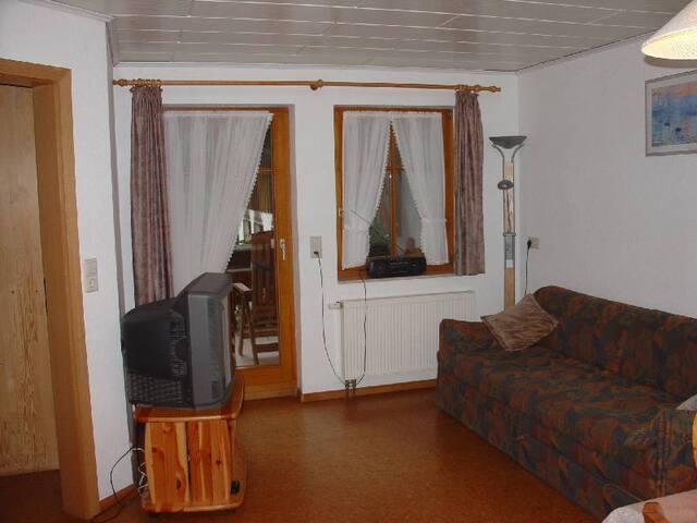 Geigerbauernhof, (Mühlenbach), Ferienwohnung Schwalbennest mit 60 qm, zwei Schlafräume für maximal 2 Personen
