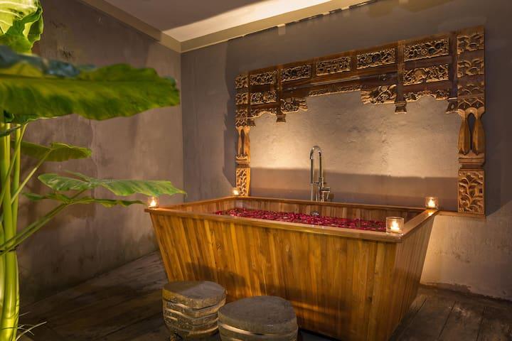 The villa bathtub