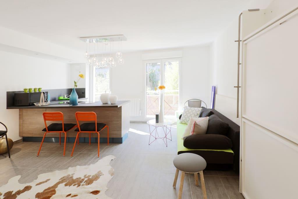 Une déco design et chaleureuse qui donne l'impression d'être à la maison !
