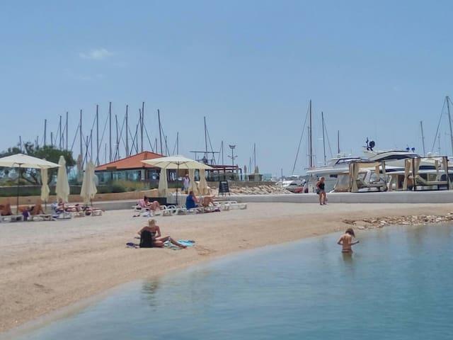 Beach next to Yachtclub Seget Donji