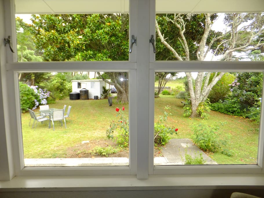 Lovely outlook from lounge room into front garden. Plenty of fully fenced lawn for the kids.