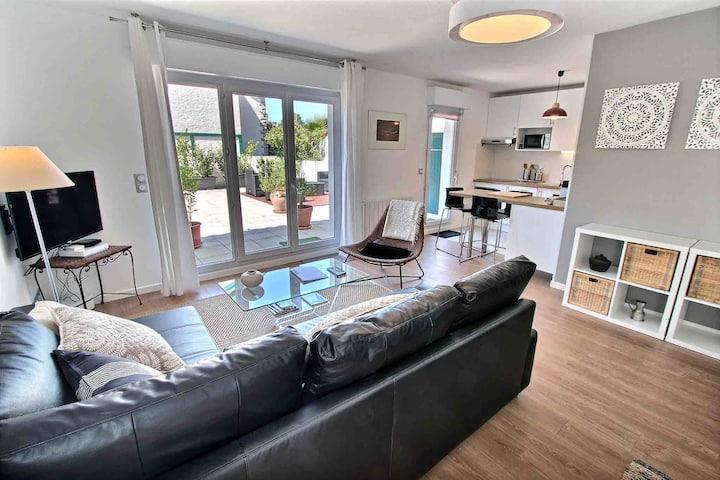4* Charmant T2 moderne avec grande terrasse
