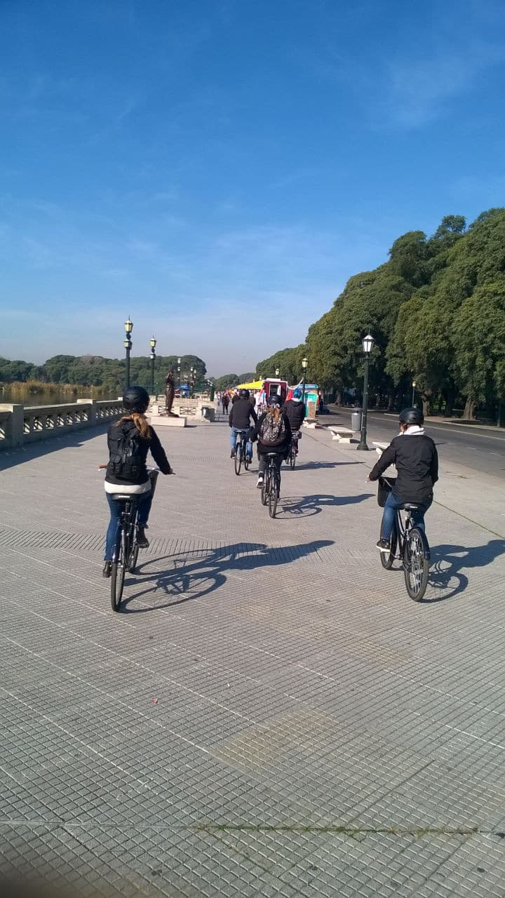 Riding along Costanera Sur