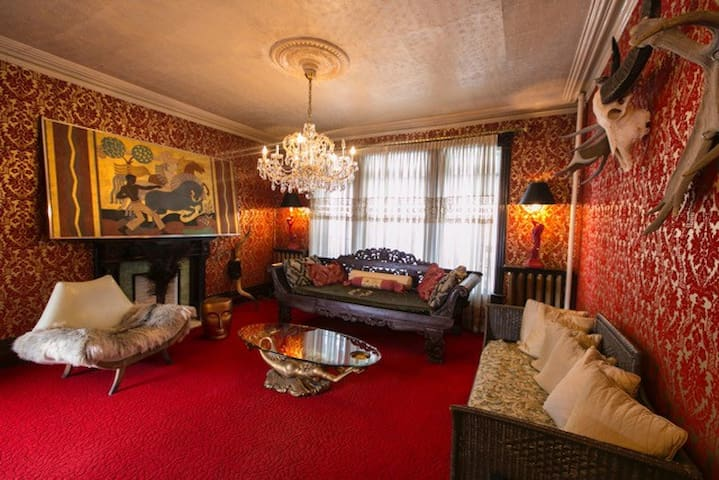 The drawing room, in the first floor parlour.